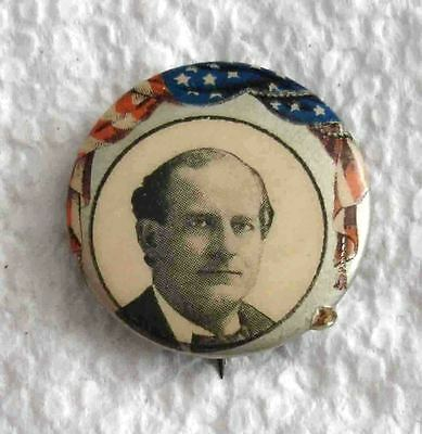 William J. Bryan Presidential Campaign Celluloid Button-Sharp & Colorful!