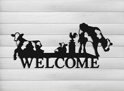 Funny Dairy Cow Welcome Sign-Cattle-Dairy Farms-Farm And Ranch Decor #welcow1-24
