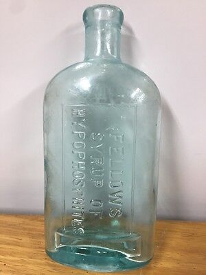 Vintage Fellows Syrup Of Hypophosphites 14 1/2 Oz. Green Bottle