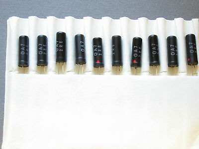 10 of OA7 germanium gold bonded diodes chrystalradio
