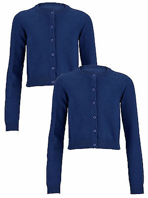 Top Class Essential Pack of Two Cardigans In Royal Size 11-12 Years