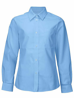 Top Class Girls Pack of Two Long Sleeved Shirts In Blue Size 5-6 Years