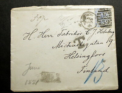 GB 1884 cover to Finland   F-284