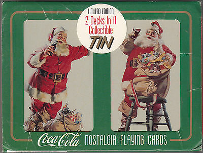 "Coca-Cola Nostalgia Playing Cards In A Collectible Tin ""sealed"" 1994"