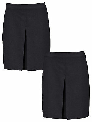 Top Class Pack Of Two Girls Kick Pleat Skirt in Black Size 9-10 Years