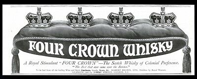 1913 Four Crown Scotch whisky vintage UK print ad