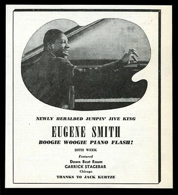 1944 Eugene Smith photo boogie woogie piano vintage trade print ad