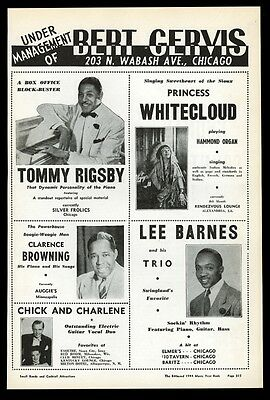 1944 Tommy Rigsby Princess Whitecloud Lee Barnes Clarence Browning photo ad