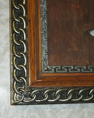 Victorian Picture Frame ~ Oak & Silver Leaf Circa 1880s GREAT 4 Painting / Photo