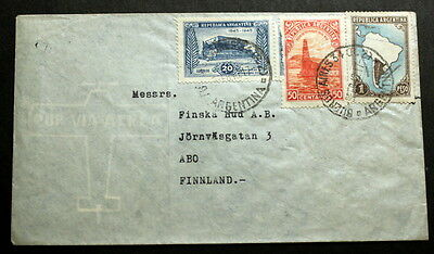 Argentina cover to Finland   F-239
