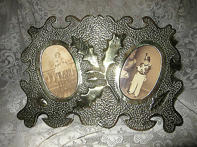 WW1 Trench Art Picture Frame for Two Portraits