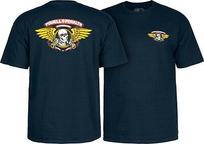 Powell Peralta Skateboards Old School Winged Ripper Classic Reissue T-Shirt Navy