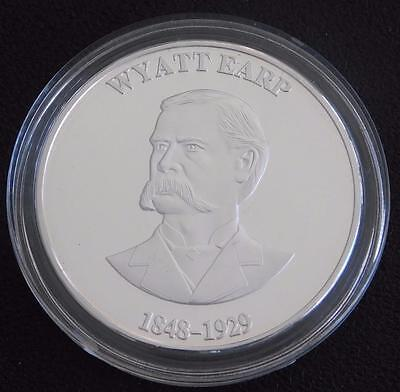 Wyatt Earp Collectible Gunfighter Coin - SILVER Coated -- Made In USA
