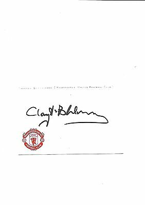 Manchester United - Clayton Blackmore (Hand Signed)