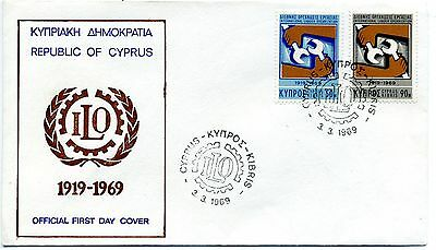 Cyprus 1969 International Labour Organisation FDC