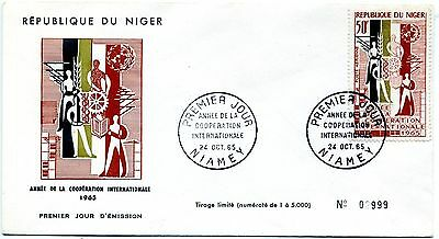 Niger 1965 International Cooperation Year First day cover