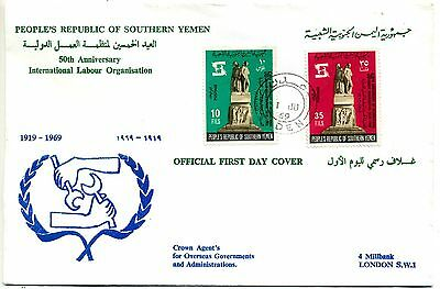 Yemen 1969 International Labour Organisation FDC