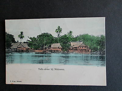 The Tello River, Makassar, Indonesia - A Vintage Card