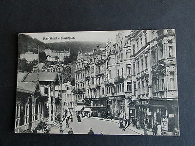 Karlsbad, Czechoslovakia - The Market Place - Postally Used  1927