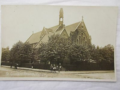 old rp postcard st clement church fulham (circa 1900?)