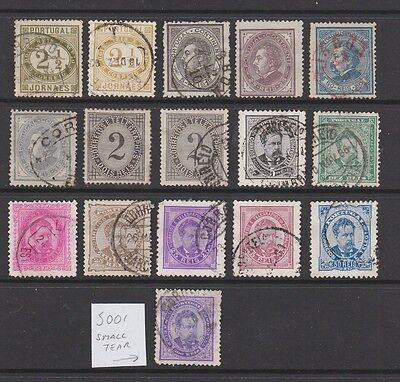 Portugal 1880 -1887 collection, 16 stamps
