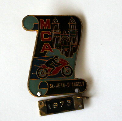 Médaille concentration moto MCA St JEAN D'ANGELY 1973