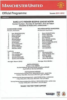 MANCHESTER UNITED v WOLVERHAMPTON WANDERERS. 26/4/2012