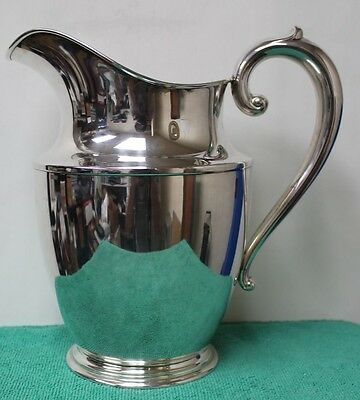 "Wallace Sterling #201 Water Pitcher Appx. 7.5"" Tall & Holds 4.5 Pints"