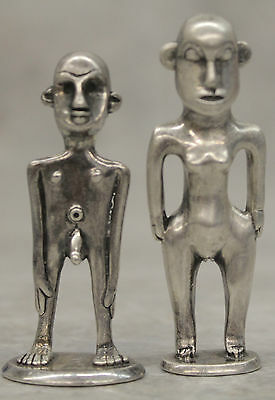 Sterling Silver Tribal Figurines 925 Man & Woman 116.0g 3.72 OZ