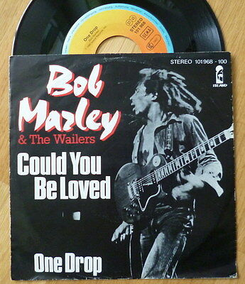 """BOB MARLEY & THE WAILERS 7"""" rare GERMAN IMPORT 'Could You Be Loved' 1980 ISLAND"""