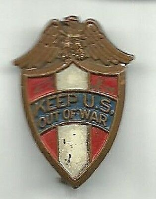 Keep U.s. Out Of War Isolationist World War Ii Peace Pin