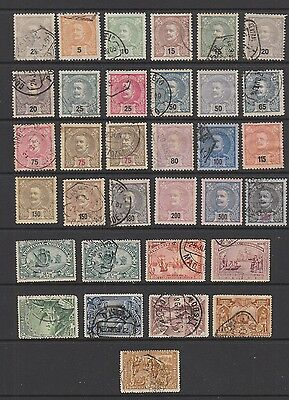 Portugal 1895 - 1905 collection, 33 stamps