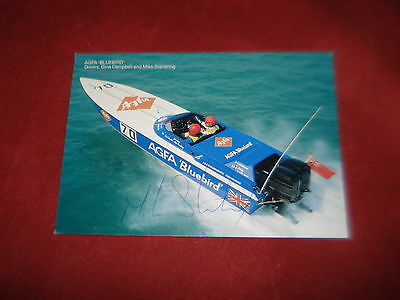 VINTAGE TRANSPORT POWER BOAT Agfa Bluebird MIKE STANDRING colour **SIGNED**