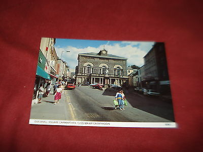 VINTAGE WALES: CARMARTHENSHIRE CARMARTHEN Guildhall colour PEOPLE SHOPS