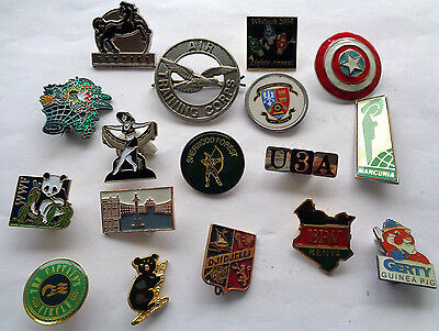 Mixed Lot Enamel Lapel Badges And Others