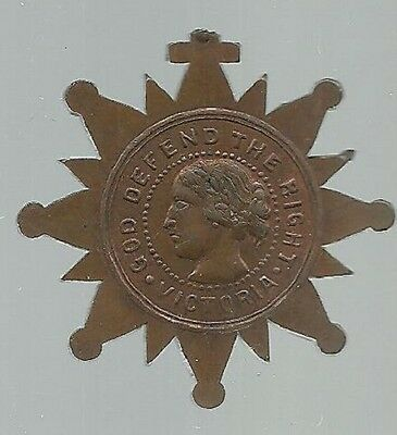 Queen Victoria God Defend The Right International Temperance Medal