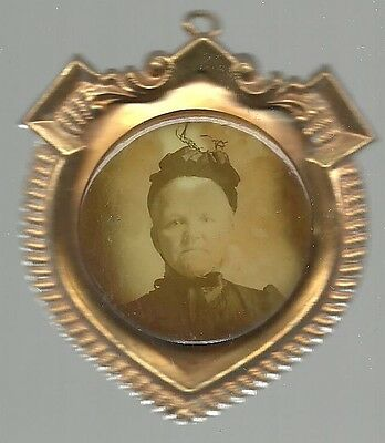 Cary Nation Unusual, Old Temperance Celluloid Badge