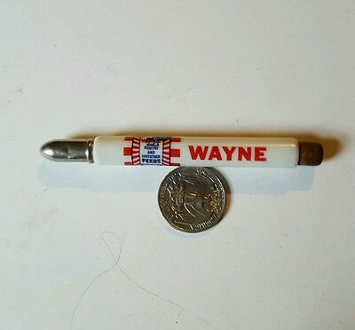 Vintage  Wayne Poultry And Livestock Feed Bullet Pencil