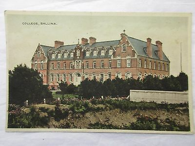 old postcard college  ballina (posted)