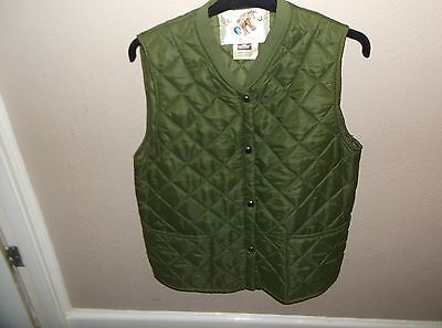 Vintage Mens Horse Riding Gilet Quilted Green Size 38 Inch Lavenir