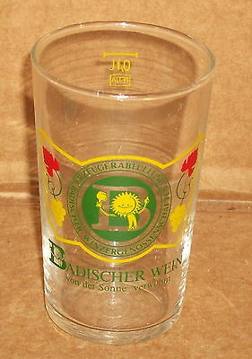 "3 1/2"" tall  ADVERTISING BADISCHER WEIN GLASS"