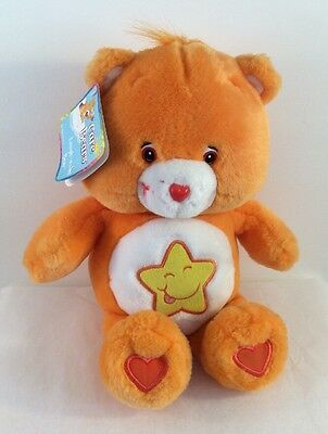 """13"""" Care Bears Laugh A Lot Talking 2003 With Tags Orange Star Plush Toy"""