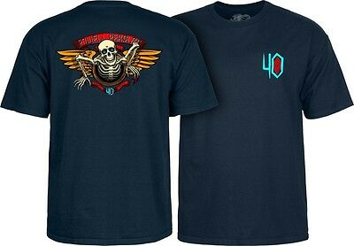 Powell Peralta Winged Ripper 40th Anniversary Old School Reissue T-Shirt Navy