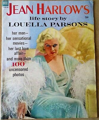 Vintage Jean Harlow Life Story By Louella Parsons Photos Magazine Old Hollywood