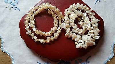 Vintage Mother Of Pearl Chip Choker Lot
