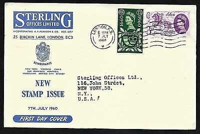 Great Britain Post Office Anniversary FDC First Day Cover, Sterling Cachet 1960