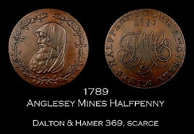 1789 Anglesey Druid Conder Halfpenny D&H 369, scarce