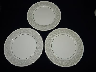 """Imperial China Whitney W Dalton Lot of 3 Bread + Butter Plates 6 1/2"""""""