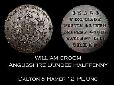 Angusshire Dundee Conder Halfpenny D&H 12, Proof-like Unc