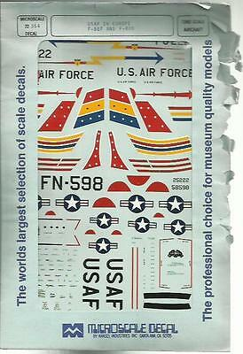 Microscale Superscale 72-354 F-86F Sabre F-80B USAFE decal in 1:72 Scale